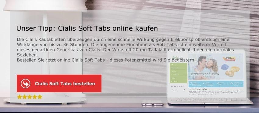 Cialis Soft Tabs mit Tadalafil bestellen