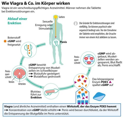 So wirkt Viagra Generika